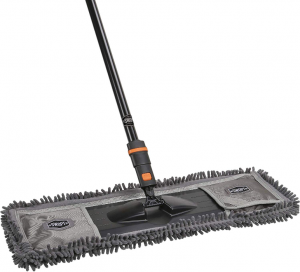 SWOPT Dust Mop w Microfiber Combo - 60 Steel Handle - Clean Hard-to-Reach Areas ­- Machine Washabl[...](1)