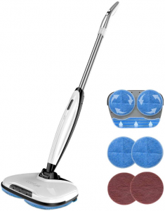 Comfyer Swift Cordless Electric Spin Mop, Floor Cleaner Mop, 2 in 1 Power Scrubber Brush P[...]